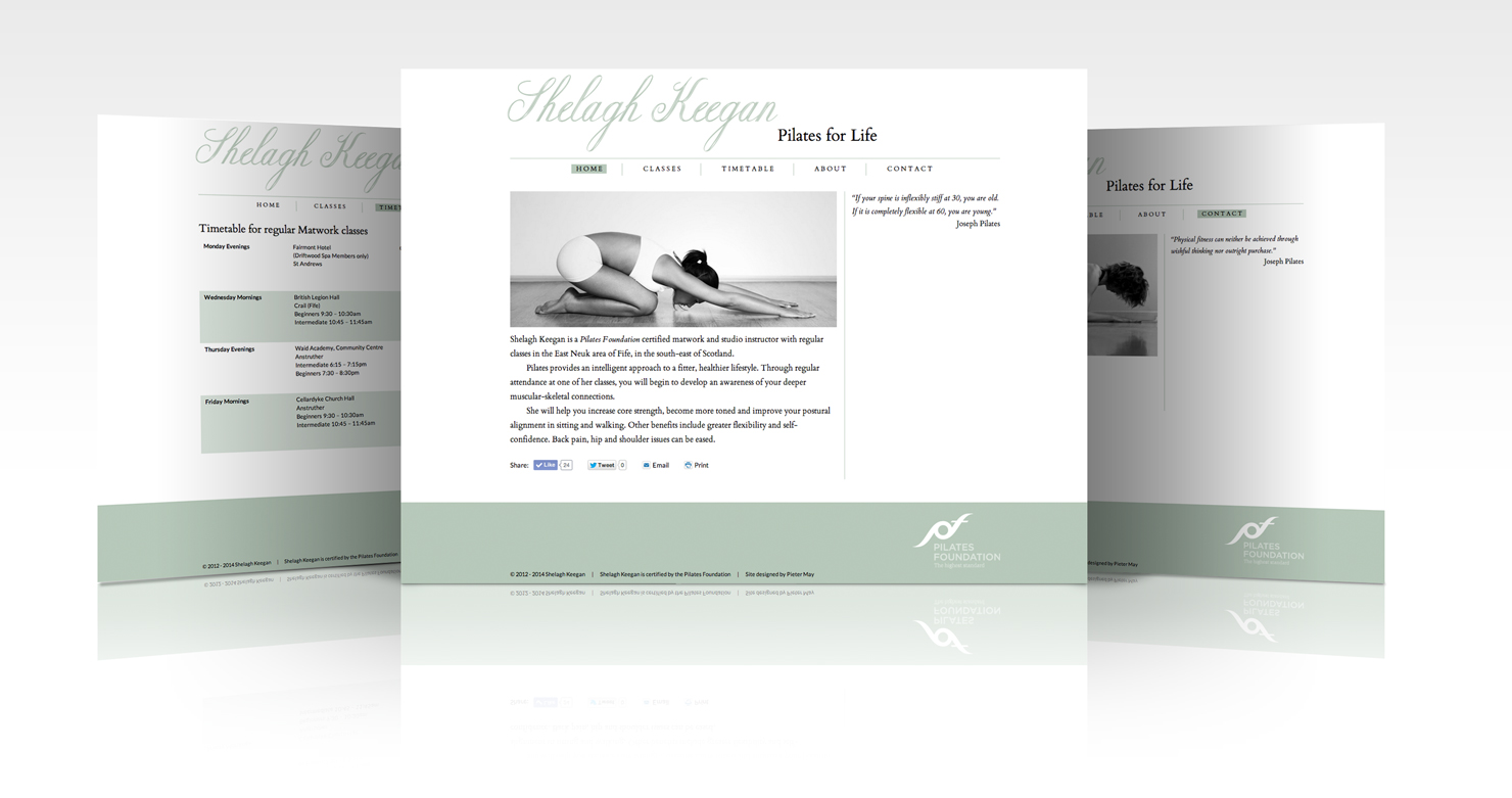 Shelagh Keegan Pilates Website